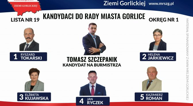 Kandydaci do Rady Miasta OKRĘG NR 1