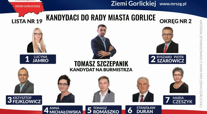 Kandydaci do Rady Miasta OKRĘG NR 2
